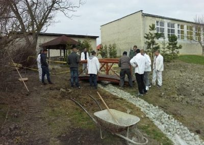 building the blue school areal