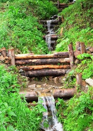 check dams altering water regime and stoping sediments
