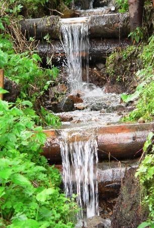 check dams disturbing kinetic energy of water